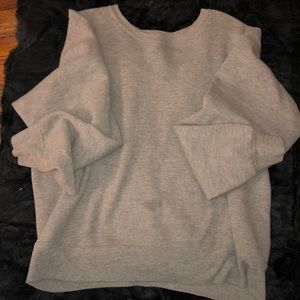 Large jerzees women's gray sweater